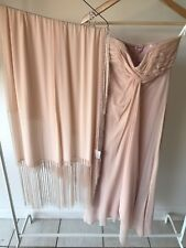 Vintage Lisa Ho Silk Strapless Gown And Matching Shawl, Sz 8