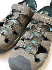 Sperry Wet Tech Fish Water Shoes Sandals 6W Gray Grey Blue Big Boys Kids Unisex