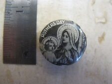 Virgin Mary Mothers Day Pin Back Catholic Religious Infant Baby Jesus