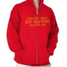 Camisa de Marina de América dormir bien | Militar Regalo 2nd enmienda Zip Hoodie
