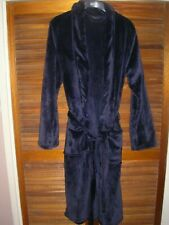 Marks & Spencers Men's Navy Blue Dressing Gown - Unused