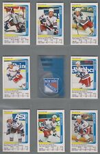 1991-92 Panini Stickers New York Rangers Complete Team Set (15)