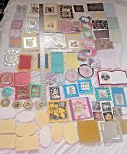 Lote de respaldo Tarjeta Toppers papeles de trabajo 10 tarjetas Hecho a Mano destash más de 80 artículos