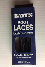 BATES BOOT LACES Black/Brown 60 inches / 152 CM New NIB Shoe Laces