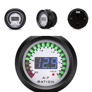 """2"""" 52mm Air Fuel Ratio Gauge Blue LED Digital Display Meter For 12V Car Vehicle"""