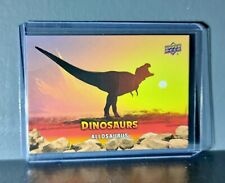 1995 Upper Deck Dinosaurs Allosaurus Extinction Red Parallel #8 Card