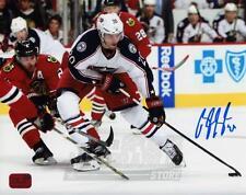 Brandon Saad Columbus Blue Jackets Signed Autographed Action vs Blackhawks 8x10