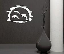 Wall Sticker Vinyl Decal Dolphin Marine Ocean Decor Bathroom (ig1132)