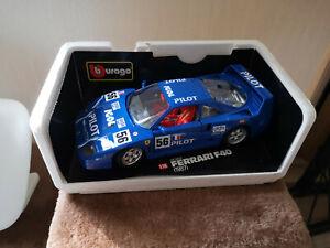 1:18..Burago--Ferrari F40 1987 in blau,selten 3032 neu in OVP