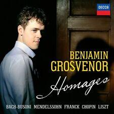 BENJAMIN GROSVENOR -HOMAGES  CD NEW+ MENDELSSOHN/CHOPIN/LISZT/FRANCK/BACH/BUSONI