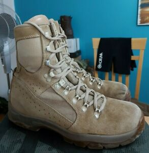 BRITISH ARMY MEINDL DESERT HIGH LIABILITY COMBAT BOOTS - Size UK 8.5 - G2