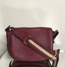 India Hicks Cartridge Merlot Leather Crossbody Bag Purse Read