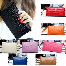 Well Lady Women Leather Clutch Wallet Zip Long Card Holder Case Purse Handbag