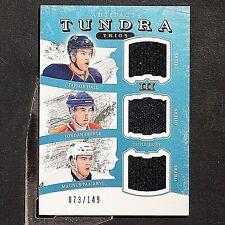 TAYLOR HALL  JORDAN EBERLE + 2011-12 Artifacts Tundra Trios Jerseys Blue #TT3EDM