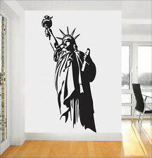 Statue of Liberty Freedom ART Quote Wall Stickers Bedroom Removable Decals DIY