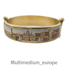 Millefiori Silber Armband Armreif um 1850 Mikromosaik silver gilt micro mosaic