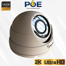 5MP HD 1920P Dome CCTV Security Wired PoE IP Camera Waterproof Outdoor IR Speed