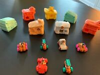 Lot of 7 McDonald's Happy Meal The Flintstones Movie Vehicles Buildings Toys