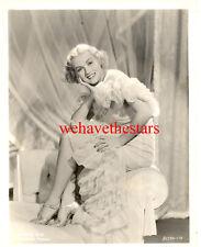 Vintage Patricia Ellis GORGEOUS SEXY LEGS '34 Publicity Portrait
