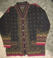 Womens DALE OF NORWAY CARDIGAN SWEATER Snowflake Casual Collection SZ SMALL