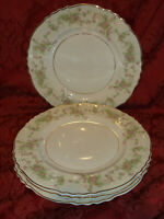 SET OF 4 SYRACUSE CHINA FEDERAL SHAPE DEARBORN DINNER PLATES.....NICE!