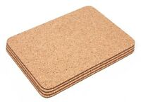 Cork Rectangular Placemats Coasters Table Mats Dining