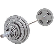 300 lb Steel Grip Weight Set with Bar and Collars - Body-Solid Fitness OST300S