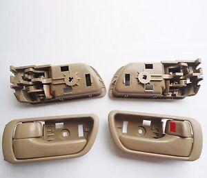 For 02-06 Toyota Camry Inside Inner Front Rear Left Right Side Beige Door Handle