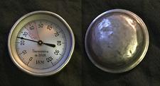 curieux rare insolite ancien thermometre de bain en aluminium LAM ou IAM