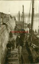 More details for real photographic postcard of fishing boats, peel, isle of man