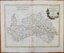 Zatta Large Original Map Nawahrudak Nowogrudok Belarus - 1779