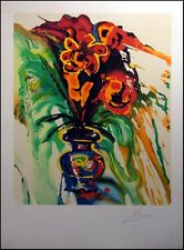 """Salvador Dali """"Gala's Bouquet"""" Hand Signed Lithograph Listed Art Make An Offer!"""