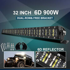 Dual Row 32INCH LED Light Bar 900W Driving Offroad Flood Spot Combo Beam PK 30""
