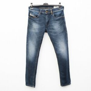 DIESEL Thommer Men's W30 L32 Slim Skinny Zip Fly Jeans Denim Pants Trousers Blue