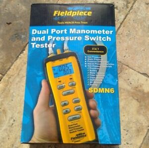 🌟🎈 Fieldpiece SDMN6 Dual Port Manometer and Pressure Switch Tester 🌟