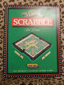 SCRABBLE DE-LUXE - FOR SPARES OR REPAIR - MISSING TILE RACKS + EIGHT LETTERS