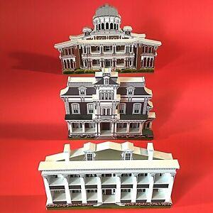 SHELIA'S 3D WOODEN HOUSES SET OF 3 NATCHEZ MISSISSIPPI HISTORIC LANDMARKS