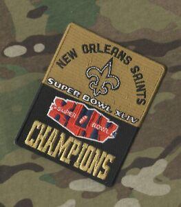 NFL SUPER BOWL XLIV SB 44 New Orleans Saints JERSEY CHAMPIONSHIP iron-on PATCH