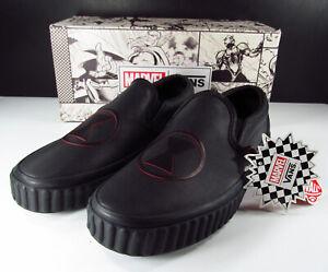 Vans x Marvel Black Widow Classic Slip-on Sneaker 7.5 Men (9 Women)