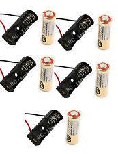 5 Pcs 23A / A23 Battery ( 12V ) with Clip Holder Box Case Black 5 pc