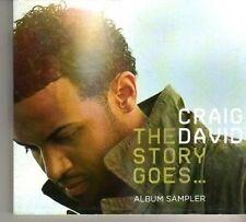 (BO125) Craig David, The Story Goes... sampler - DJ CD