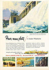 1955 Susquehanna River Philadelphia  - Original Advertisement Print Ad J125