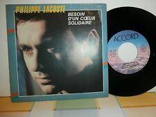 "philippe lacoste""besion d'un coeur solidaire""single7""or.fr.accord:135125.de 1984"