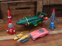 Thunderbirds Vehicle Super Set - Thunderbird 1 2 3 4 FAB1 - Soundtech 2000 Retro