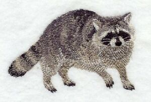 Embroidered Fleece Jacket - Raccoon D1498 Sizes S - XXL
