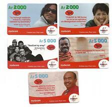 MADAGASCAR  MADAGASCAR MALAGASY old remote cards SOA MADACOM recharges anciennes