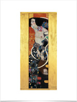 GUSTAV KLIMT JUDITH II LIMITED EDITION BIG BORDERS ART PRINT 18X24 gold female