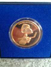 SNOOPY PLAYING HOCKEY RARE 1990's BRONZE COIN NOT SOLD TO PUBLIC COLLECTOR EVENT