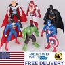 The Avengers Hulk Iron Man With Batman Superman Hero 6 PCS Action Figure Toys US