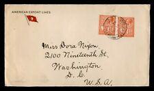 DR WHO 1935 MALTA PAQUEBOT EXILONA? SHIP VALLETTA TO USA  f82321
